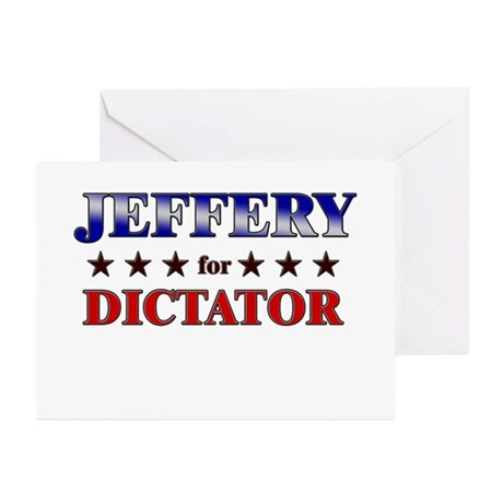 JEFFERY for dictator Greeting Cards (Pk of 10)