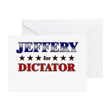 JEFFERY for dictator Greeting Card