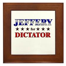JEFFERY for dictator Framed Tile