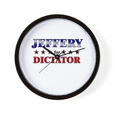 JEFFERY for dictator Wall Clock