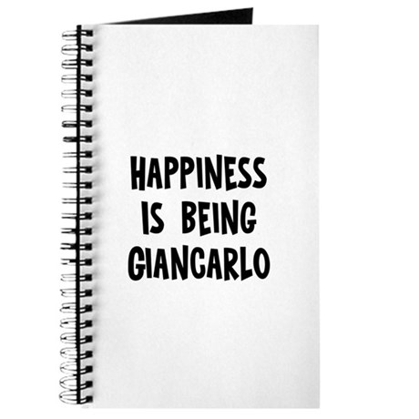 Happiness is being Giancarlo Journal