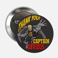 """Flying Captain Obvious 2.25"""" Button (10 pack)"""