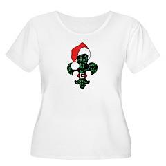 Santa Fleur de lis (green) T-Shirt