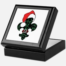 Santa Fleur de lis (green) Keepsake Box