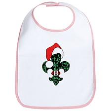 Santa Fleur de lis (green) Bib