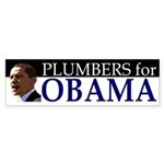 Plumbers for Obama bumper sticker