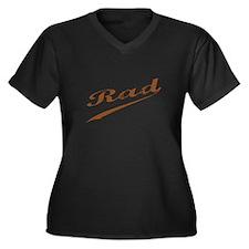 RAD Women's Plus Size V-Neck Dark T-Shirt