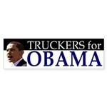 Truckers for Obama car bumper sticker