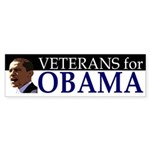 Veterans for Obama car bumper sticker