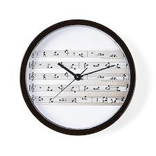 Kama Sutra Music Notes Wall Clock