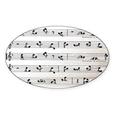 Kama Sutra Music Notes Oval Decal