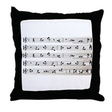 Kama Sutra Music Notes Throw Pillow