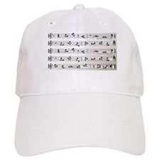 Kama Sutra Music Notes Baseball Cap