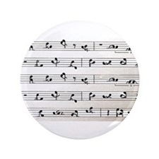 """Kama Sutra Music Notes 3.5"""" Button"""