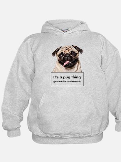 Cute Pug dog Hoodie