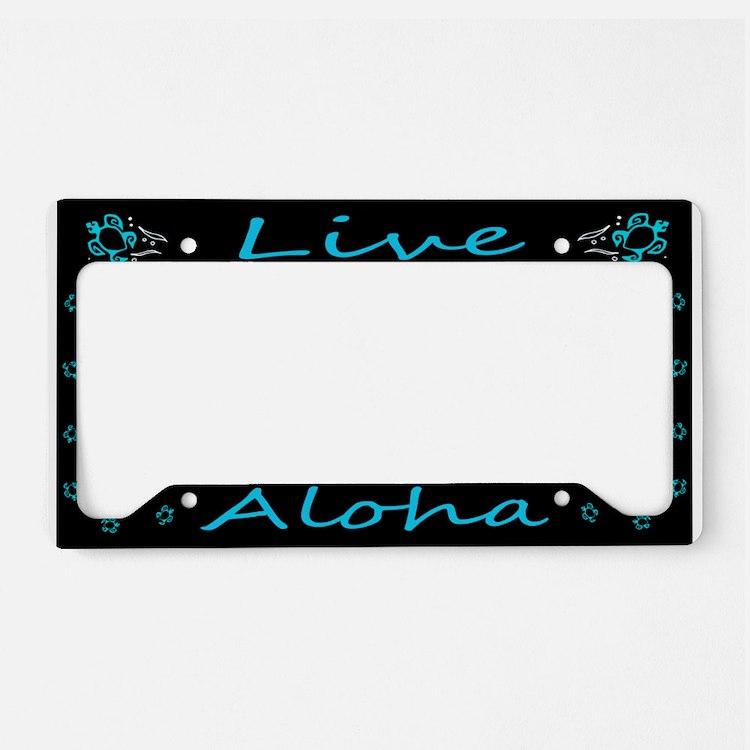 """Aluminum """"Live Aloha"""" Honu License Plate"""