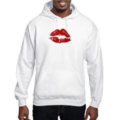 Lipstick Kiss Hooded Sweatshirt