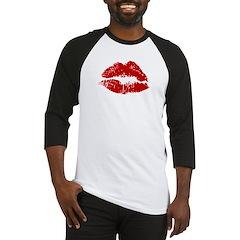 Lipstick Kiss Baseball Jersey