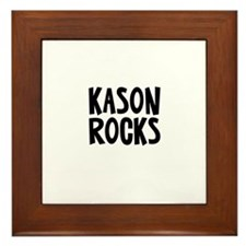 Kason Rocks Framed Tile