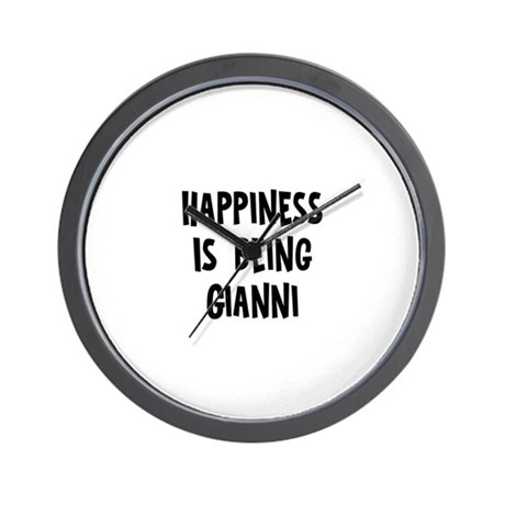 Happiness is being Gianni Wall Clock