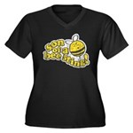 Son of a Bee Sting! Women's Plus Size V-Neck Dark