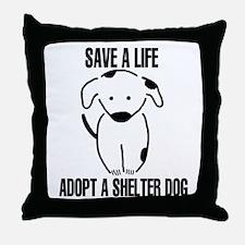 Adopt A Dog Throw Pillow