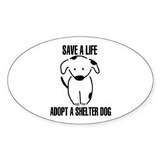Adopt A Dog Oval Decal