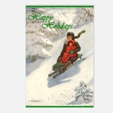 Winter Sledding Fun Postcards (Package of 8)