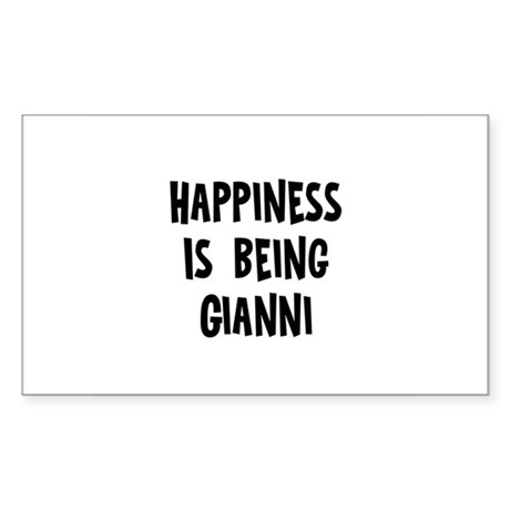 Happiness is being Gianni Rectangle Sticker