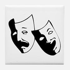 Drama Masks Tile Coaster