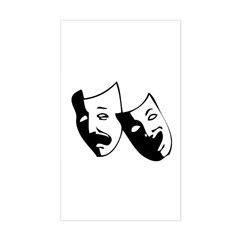 Drama Masks Rectangle Decal