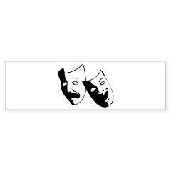 Drama Masks Bumper Bumper Sticker