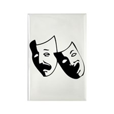 Drama Masks Rectangle Magnet