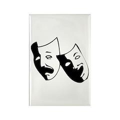 Drama Masks Rectangle Magnet
