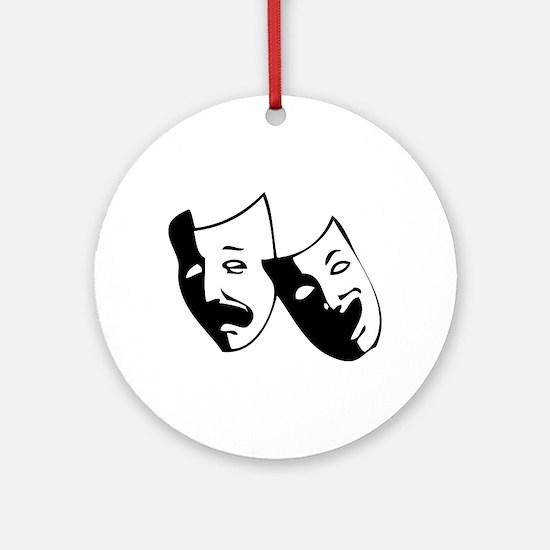 Drama Masks Ornament (Round)