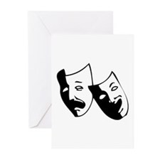 Drama Masks Greeting Cards (Pk of 20)