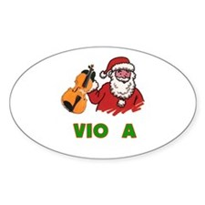 Santa Noel Viola Oval Decal