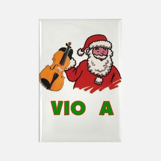 Santa Noel Viola Rectangle Magnet