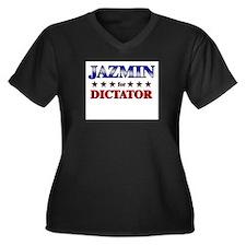JAZMIN for dictator Women's Plus Size V-Neck Dark