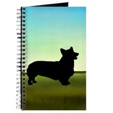 corgi in a field Journal