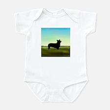 corgi in a field Infant Bodysuit