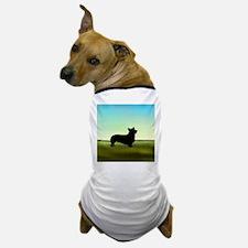 corgi in a field Dog T-Shirt