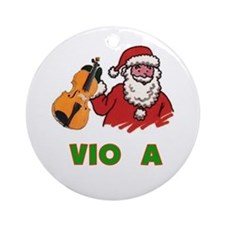 Santa Noel Viola Ornament (Round)