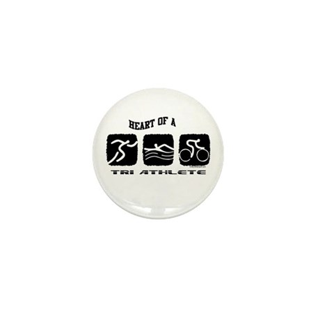 HEART OF A TRI ATHLETE Mini Button (100 pack)