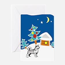 Christmas Husky Greeting Card