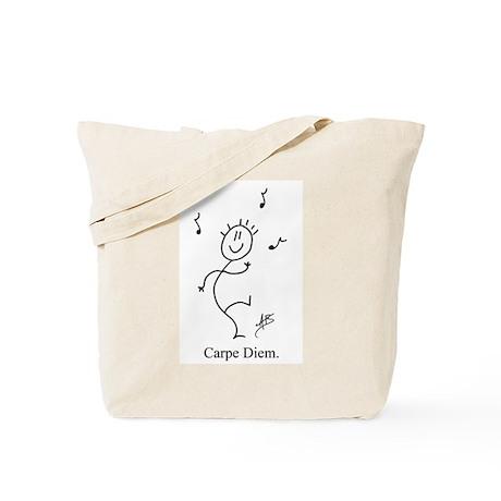 Dancing Smiley Man Tote Bag