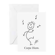 Dancing Smiley Man Greeting Card