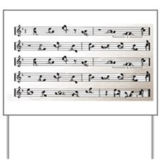Kama Sutra Music Notes Yard Sign