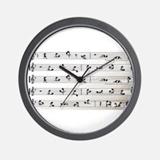 Kama Sutra Music Notes Wall Clock