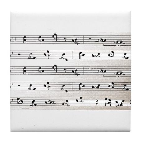 Kama Sutra Music Notes Tile Coaster